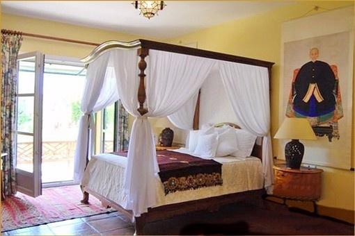 One of the heavenly bedrooms with direct access to the terrace