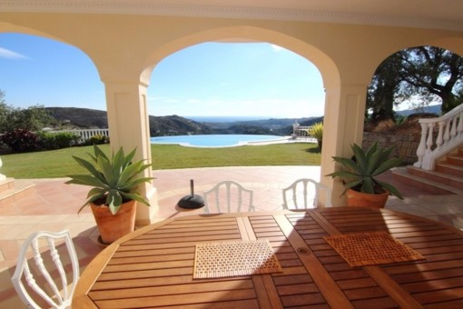 One of the magnificent terraces with breathtaking views