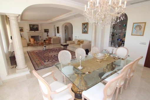 The exquisite living room with selected interior