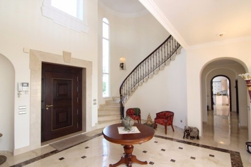 The imposing entrance hall