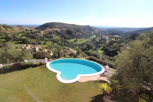 The great garden of the villa