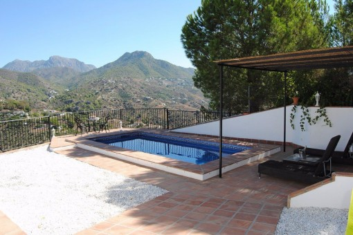 Lovely pool area with mountain views
