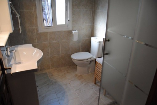 One of the modern bathrooms