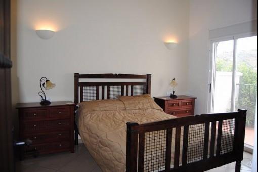 Bright main bedroom