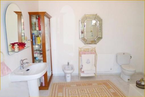 One of the elegant bathrooms