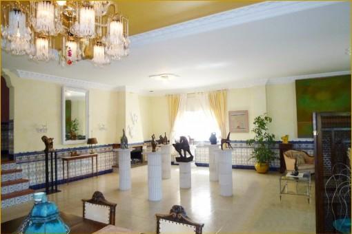 The unique interior of the finca
