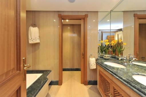 The elegant bathroom