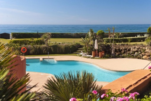 The pool with sea view