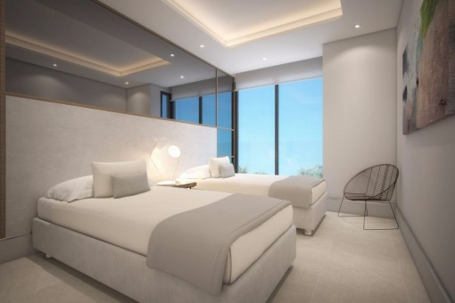 The bedroom with great sea view