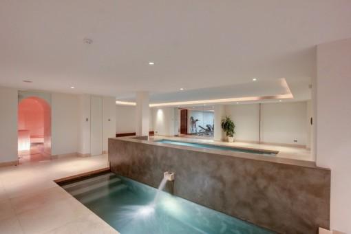 The indoor Spa and sauna