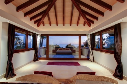 Magnificent bedroom with views