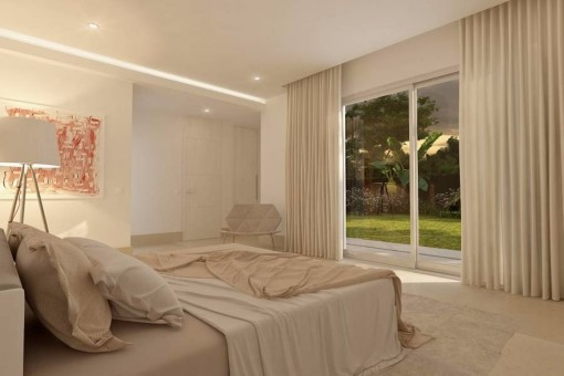 One of the wonderful bedrooms with direct access to the terrace
