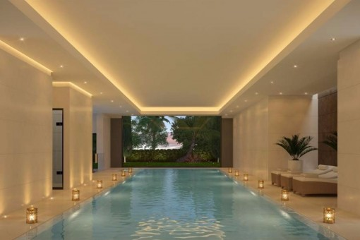 The magnificent indoor spa-area