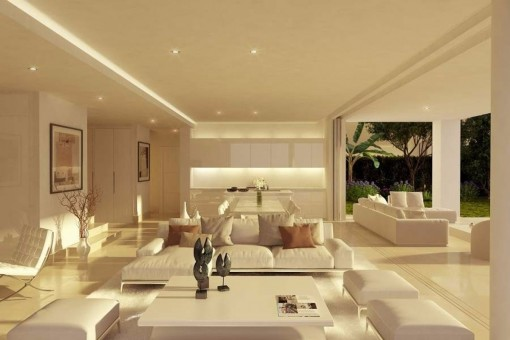 Villa, Marbella The Noble Living And Dining Room With Selected Interior ...
