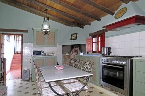 Kitchen with modern equipment
