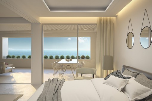 Bedroom with great views