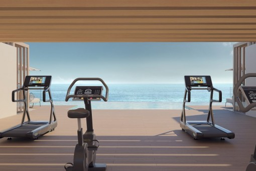 Gym with view to the sea