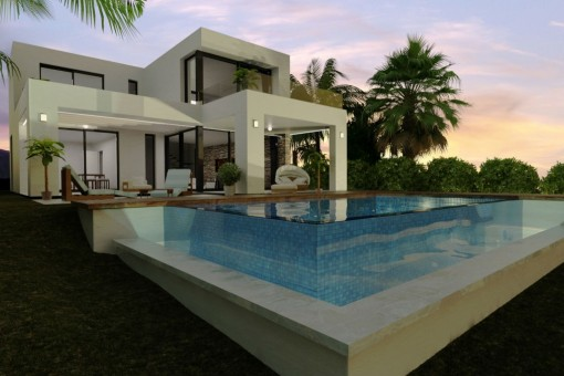 New modern luxury villa with fantastic sea view