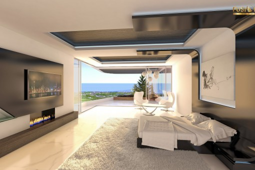Bedroom with access to the terrace