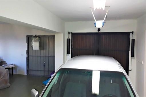 The spacious garage