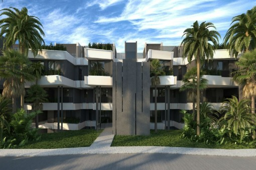 Fantastic outside views of the building in Estepona
