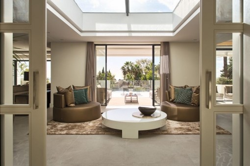 ... Villa Modern Living Area With Access To The Terrace ...