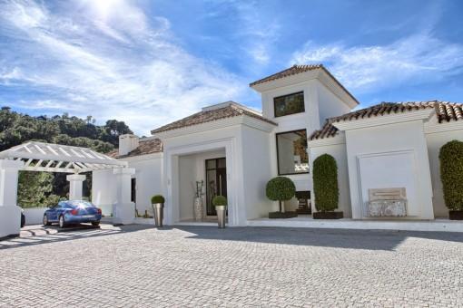 Entry area of the villa