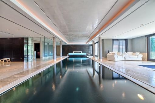 Alternative view of the indoor pool