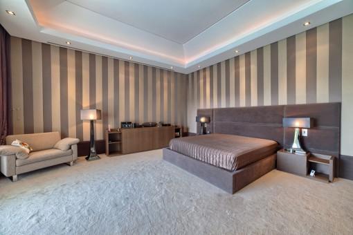 Bedroom in a ultra-modern style