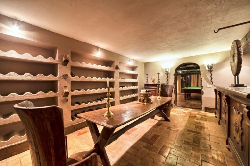 Wine celler and a bar
