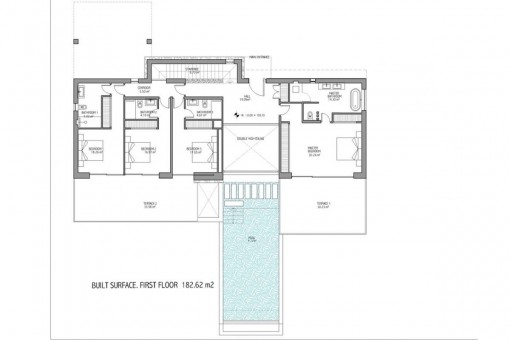 Floor plan of the first floor