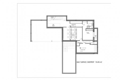 Floor plan of the basement