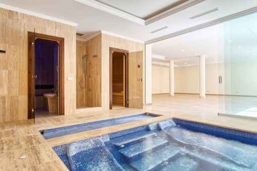 The spa area with sauna