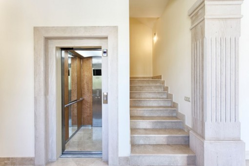 The staircase with private elevator