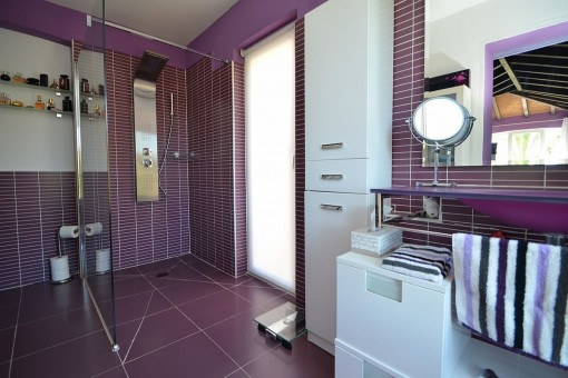 Bathroom with shower and washbain