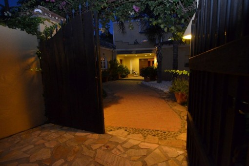 The big gate to the plot