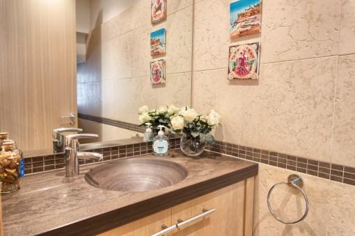 Large guest bathroom