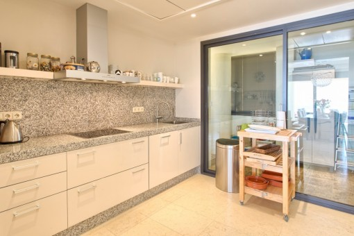 Alternative view of the open plan kitchen
