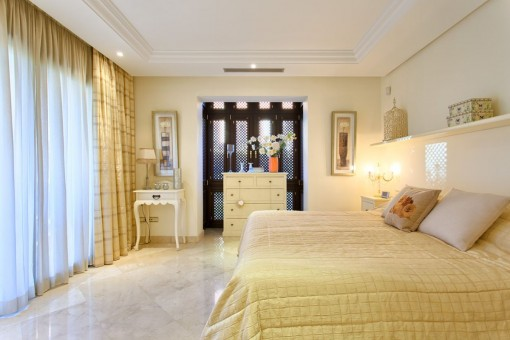 The bedrooms offer air-condition