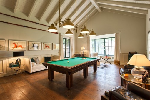 Playroom with billiard table
