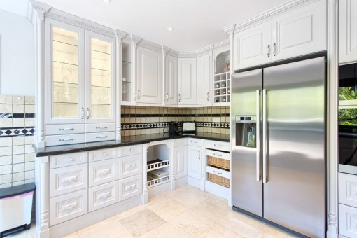 The kitchen offers all types of appliances