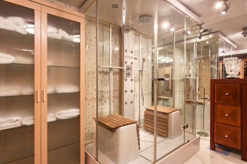 Fitness with a hidro-massage shower