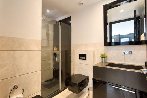 Design bathroom with shower