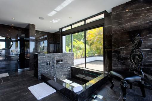 Design bathroom with jacuzzi