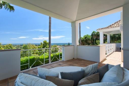 Balcony with lounge