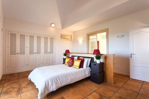 One of 3 bedrooms with double bed