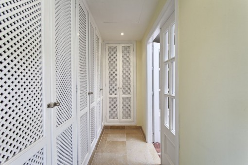 Hallway with built-in wardrobe