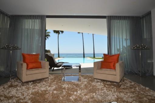 Seating area with wonderful sea views