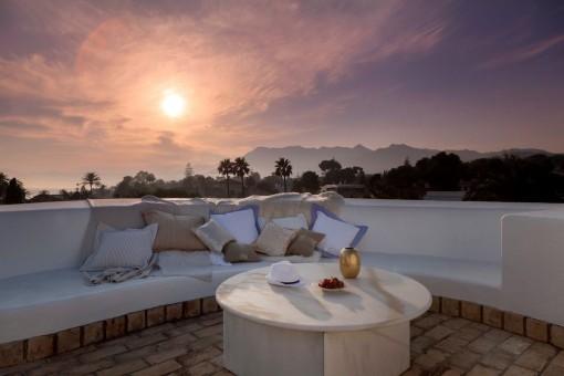 Beautiful roof terrace to enjoy summer nights