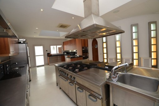 Professionally equipped kitchen with ample space